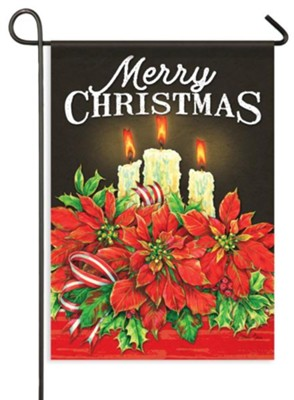 Christmas Candles, Merry Christmas Flag, Small  -     By: Donna Race