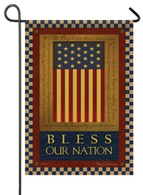 Bless Our Nation (Constitution) Small Flag  -     By: Russ Cannizzaro