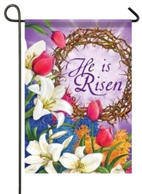 He Is Risen Small Flag  -     By: Janet Stever