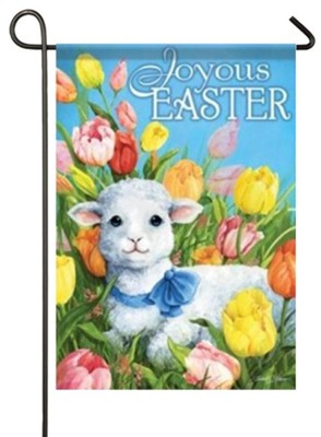 Joyous Easter (lamb) Small Flag  -     By: Janet Stever