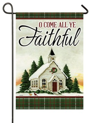 O Come All Ye Faithful Flag, Small  -     By: Dianna Swartz