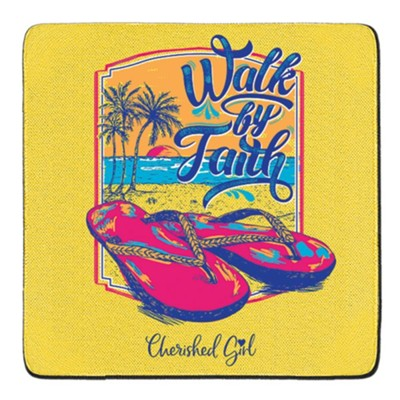 Walk By Faith Coasters, Set of 2  -