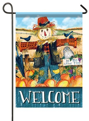 Welcome, Scarecrow, Flag, Small  -     By: Ellen Stouffer