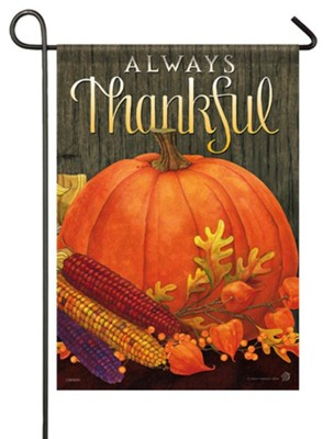 Always Thankful Flag, Small  -     By: Holly Thomas Stein