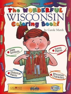 Wisconsin Coloring Book, Grades PreK-3  -     By: Carole Marsh