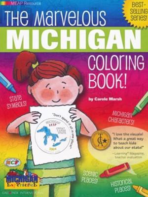 Michigan Coloring Book, Grades PreK-3: Carole Marsh: 9780793395675 ...