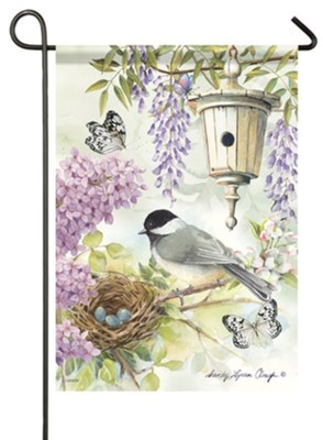 Chickadee Birdsong Flag, Small  -     By: Sandy Clough