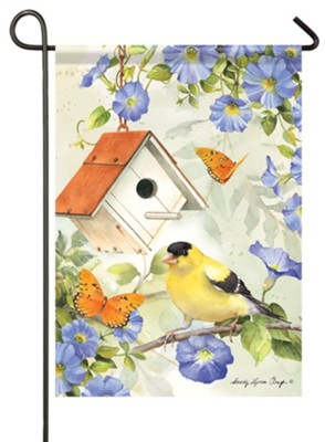 Goldfinch Birdsong Flag, Small  -     By: Sandy Clough