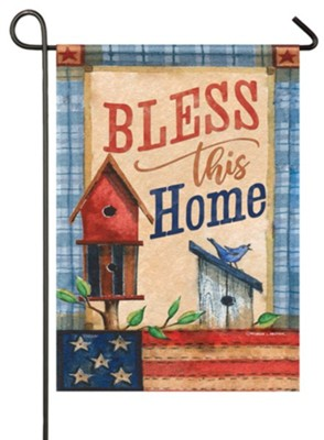 Bless This Home, Patriotic Patchwork, Flag, Small  -     By: Michelle Palmer