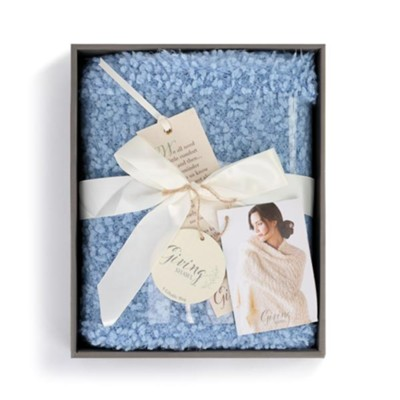 Giving Shawl, Pale Blue  -