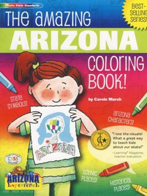 Arizona Coloring Book, Grades PreK-3  -     By: Carole Marsh