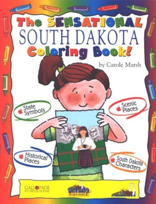 South Dakota Coloring Book, Grades PreK-3  -     By: Carole Marsh