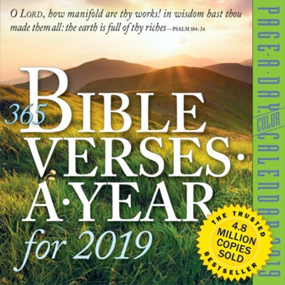 2019 365 Bible Verses--Page-A-Day Calendar   -