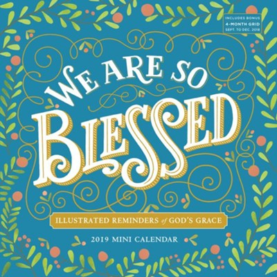 2019 We Are So Blessed Mini Wall Calendar  -