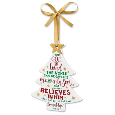 Believe Tree Ornament  -