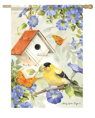 Goldfinch Birdsong Flag, Large  -     By: Sandy Clough