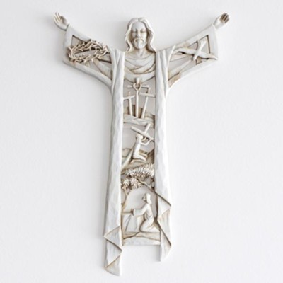 A Risen Christ Wall Cross  -