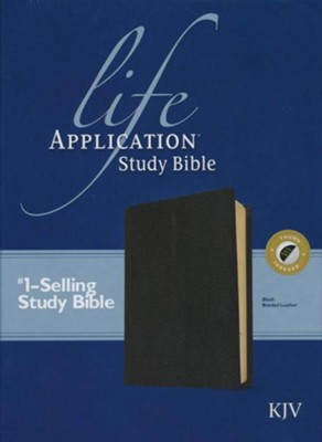 KJV Life Application Study Bible, Bonded leather, Black,  Thumb-Indexed  -