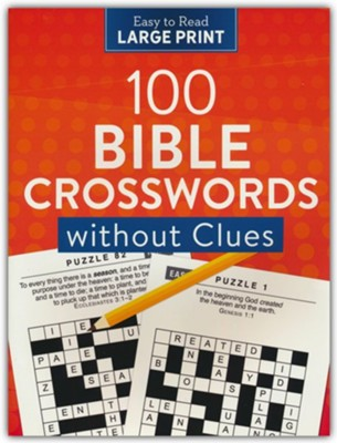 100 Crosswords without Clues Large Print  -     By: Compiled by Barbour Staff