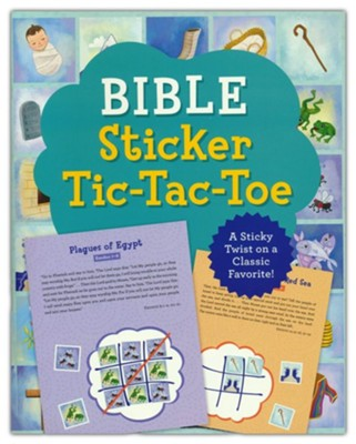 Bible Sticker Tic-Tac-Toe: A Sticky Twist on a Classic Favorite!  -     By: Compiled by Barbour Staff
