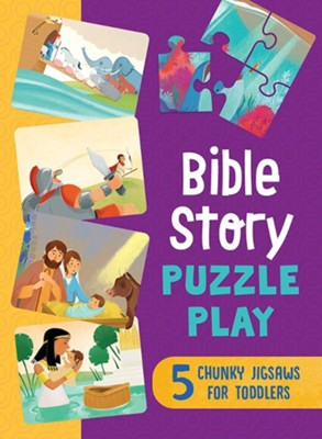 Bible Story Puzzle Play: 5 Chunky Jigsaws for Toddlers  -     By: Compiled by Barbour Staff