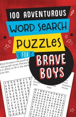 100 Adventurous Word Search Puzzles for Brave Boys  -     By: Compiled by Barbour Staff