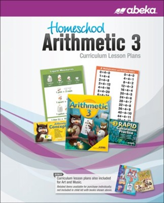 Abeka Homeschool Arithmetic 3 Curriculum Lesson Plans, 6th Ed (2019 Revision)    -