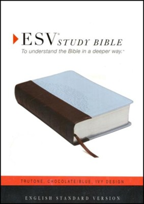 ESV Personal-Size Study Bible, TruTone, Chocolate/Blue, Ivy Design  -