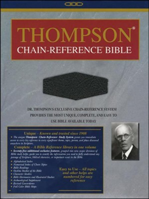 KJV Thompson Chain-Reference Bible, Handy Size, Black  Genuine Leather   -