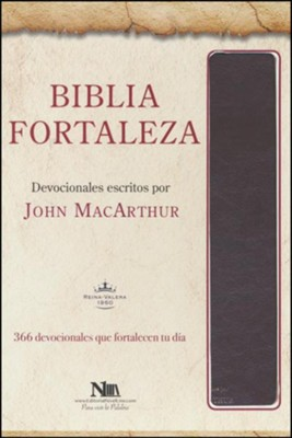 Biblia Fortaleza RVR 1960, Piel Imit. Marron  (RVR 1960 Drawing Near Bible, Brown Imit. Leather)  -     By: John MacArthur
