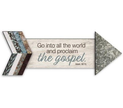 Go Into All the World, Pathways Arrow Magnet  -