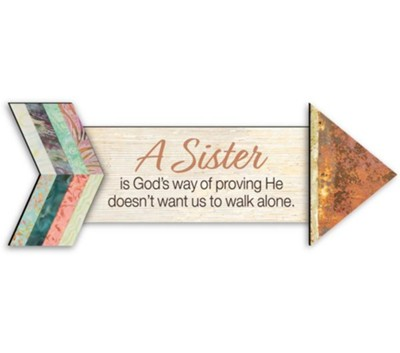 A Sister, Pathways Arrow Magnet  -