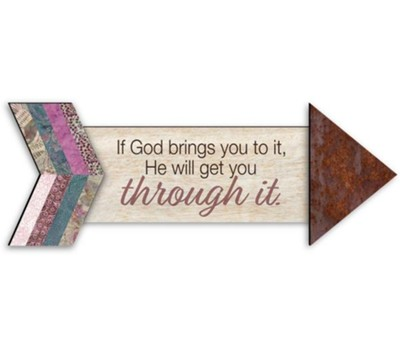 If God Brings it to You, Pathways Arrow Magnet  -