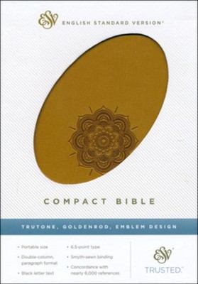 ESV Compact Bible--soft leather-look, goldenrod   -