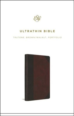 ESV UltraThin Bible (TruTone, Brown/Walnut, Portfolio Design), Leather, imitation  -