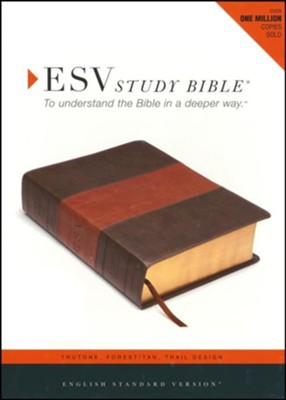 ESV Study Bible (TruTone, Forest/Tan, Trail Design, Indexed), Imitation Leather  -