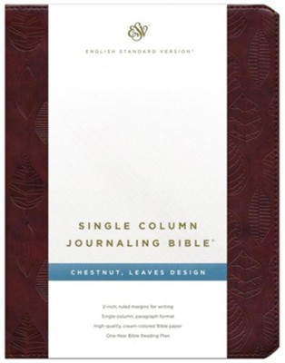 ESV Single Column Journaling Bible Brown    -