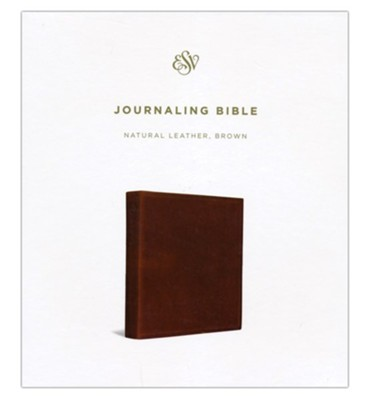ESV 2-Column Journaling Bible, Brown Cowhide   -