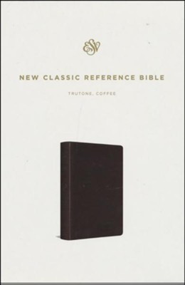 ESV Reference Bible--soft leather-look, coffee   -
