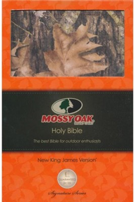 NKJV Ultraslim Bible, Mossy Oak Edition--soft leather-look, camo - Imperfectly Imprinted Bibles  -