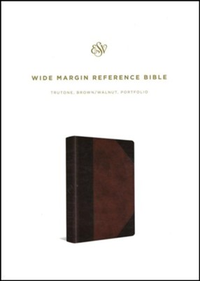 ESV Wide Margin Reference Bible (TruTone, Brown/Walnut, Portfolio Design) Imitation Leather  -