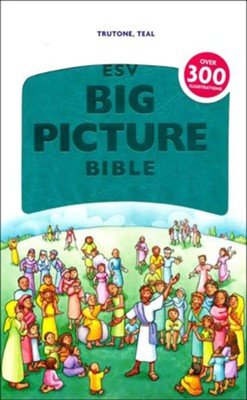 ESV Big Picture Bible--soft leather-look, teal  -