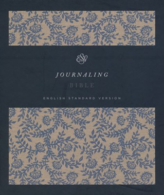 ESV 2-Column Journaling Bible, Clothbound Hardcover With Flower Design  -