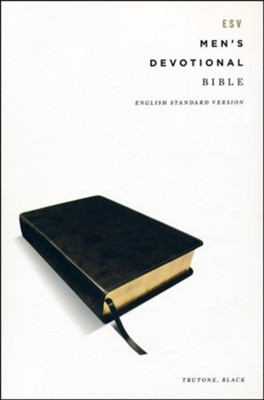ESV Men's Devotional Bible--soft leather-look, black  -