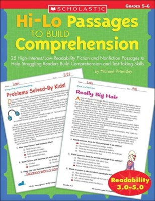 Hi-Lo Passages to Build Comprehension: Grades 5-6  -     By: Michael Priestley