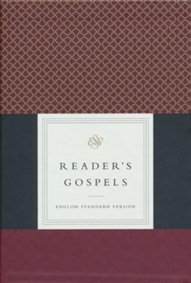 ESV Reader's Gospels--top grain leather, black over board  -