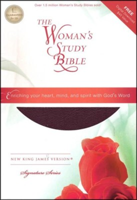 NKJV The Woman's Study Bible, Bonded leather, burgundy indexed  -
