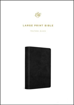 ESV Large Print Bible, Imitation Leather, Black   -