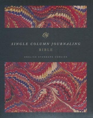 ESV Single Column Journaling Bible Classic Marbled   -