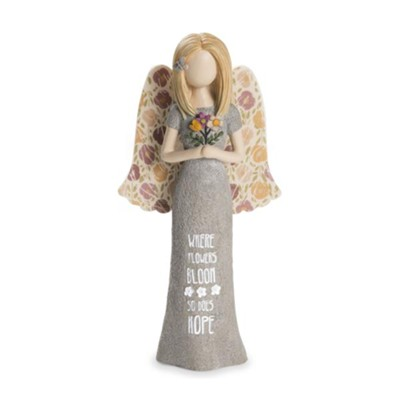 Where Flowers Bloom, So Does Hope Angel Figurine  -